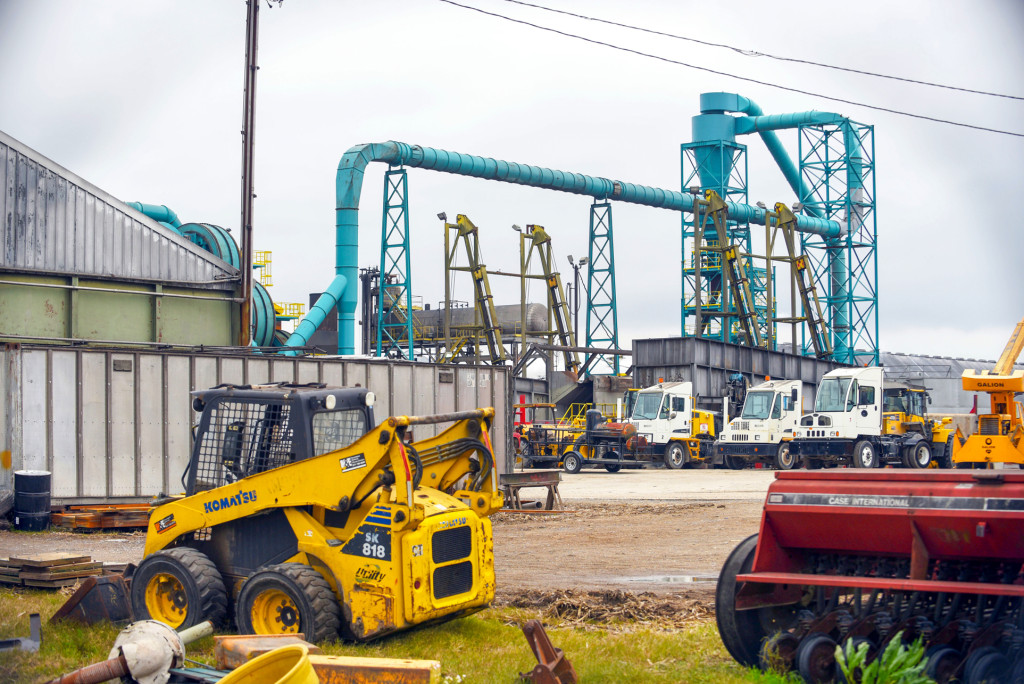 American BioCarbon's biorefinery in White Castle, now under construction, could be the first of 10 such facilities across south Louisiana. (Photo by Cheryl Gerber)