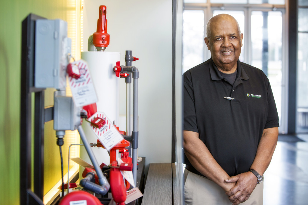MOBILE TEACHER: Isadore Brown oversees Safety Council training at ExxonMobil in addition to his duties as a classroom instructor at the council's Siegen Lane facility. (Photo by Collin Richie)