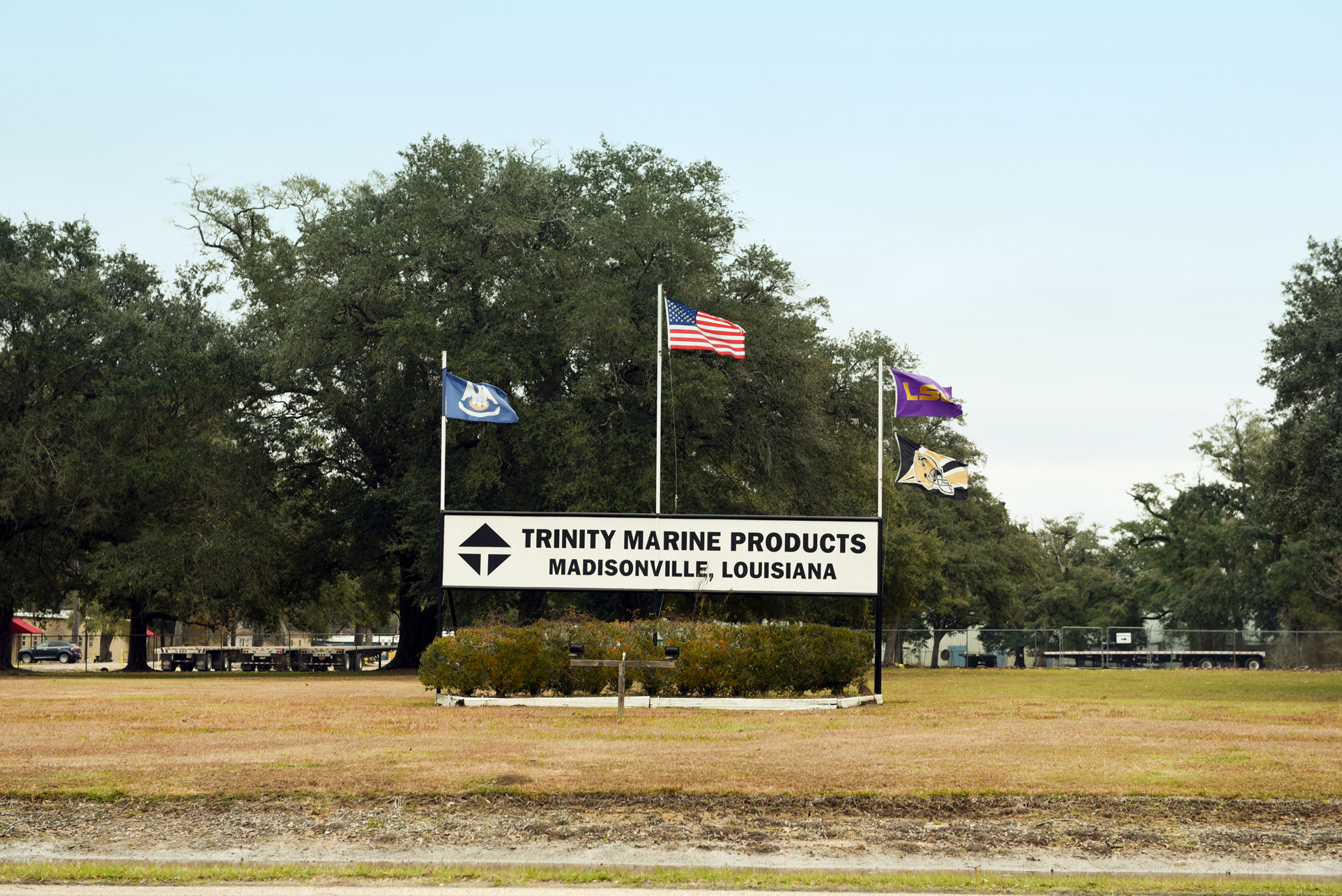 IDLED: Trinity Marine Products is in the midst of closing its Madisonville barge fabrication operation, where 324 workers had been laid off or resigned by the end of December. (Photo by Cheryl Gerber)