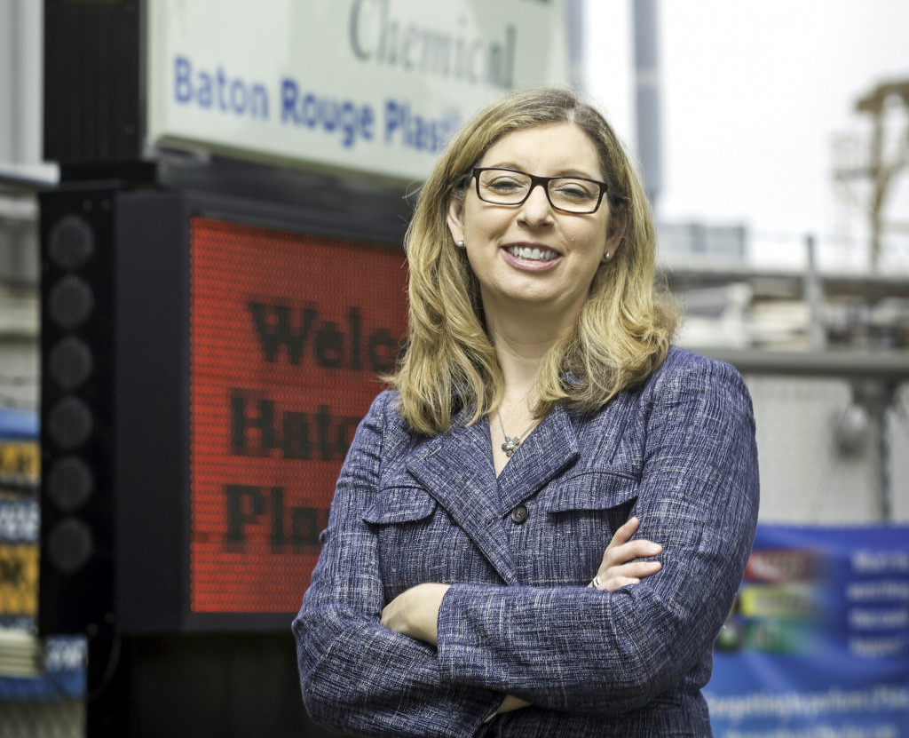 ROLE MODEL: Jennifer Dunphy took over as plant manager at ExxonMobil Plastics in Baton Rouge in March. (Photo by Tim Mueller)