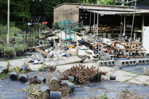 The floodwaters at Naylor's Hardware and Garden Center at 14441 Old Hammond Hwy. reached as high as five feet, causing widespread damage and leading owner Johnny Naylor to sell his True Value license to Clegg's Nursery. Naylor's, which has been in business for 63 years, will not reopen.